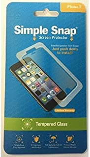Simple Snap Tempered Glass Screen Protector for Apple iPhone 7/8 - Clear