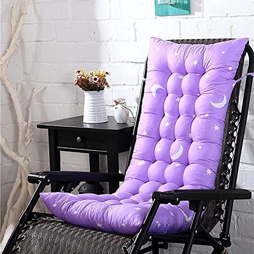 ADSE Cojines para sillas de jardín y Patio, cojín para Chaise Longue reclinable para Exteriores, Cojines de Repuesto para sillas Confort, colchón, Color Morado, 40x110cm