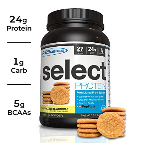 PEScience Select Low Carb Protein Powder, Snickerdoodle, 27 Serving, Keto Friendly and Gluten Free