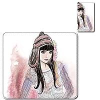Redmi Note 10 Pro スマホカバー ケース レンズホール カード入れ付 女性 女優 エンジェル