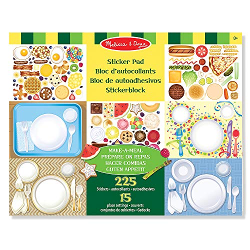 Melissa & Doug | Make-a-Meal Sticker Pad | Activity Pad | Sticker Pad | 3+ | Gift for Boy or Girl