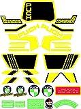 Kit de adhesivos motos clasicas Puch Condor 3 Negra - Juego Pegatinas Completo - Vinilo para Moto, máxima Calidad.