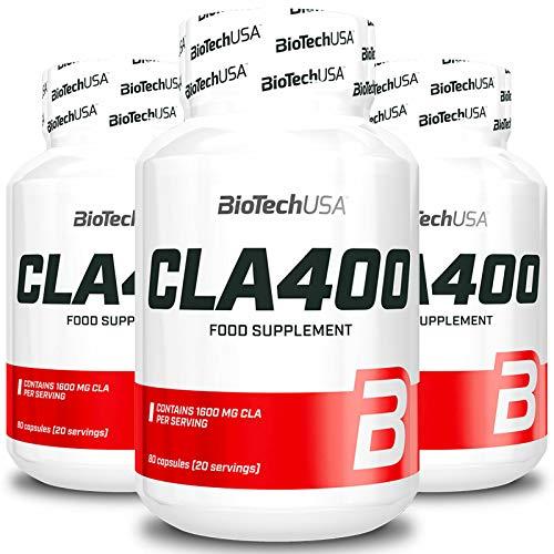 BIOTECH USA CLA 400 | Quemagrasas | Control de peso | Pastillas adelgazantes | Reducción rápida de la celulitis | Suplemento alimenticio (240 cápsulas = 3 botellas)