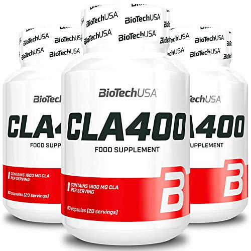 BIOTECH USA CLA 400 | Fat Burner | Weight Management | Slimming Pills | Fast Cellulite Reduction | Food Supplement (240 Capsules = 3 Bottles)