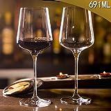 N / A Copas de Flauta de champán de Cristal sin Plomo, Transparentes,Set de Copas de Vino