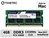 Timetec Hynix IC compatible with Apple 4GB DDR3 1333MHz PC3-10600 SODIMM Memory Upgrade For Selected MacBook Pro,iMac,Mac mini