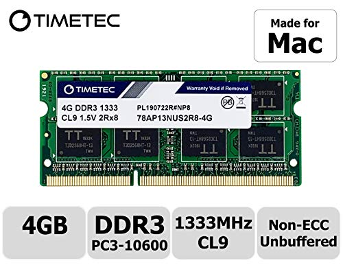 Timetec Hynix IC 16 GB (2x8GB) MAC用 DDR3 1333MHz PC3-10600 SODIMM Apple専用増設メモリ 永久保証 16 GB(2x8GB)