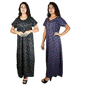 Riyashree Women's Maxi Soft Cotton Plain Nighty Nightwear Nightdress for Women Daily use Regular use Free Size Nighties…