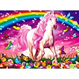 Product Image of the Ravensburger Horse Dreams - 100 Piece Glitter Jigsaw Puzzle for Kids – Every...