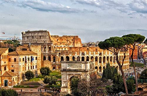 hansepuzzle 61627 Reisen - Forum Romanum, 500 Teile in hochwertiger Kartonbox, Puzzle-Teile in wiederverschliessbarem Beutel.