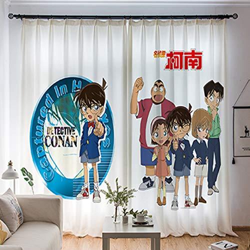 Vorhang Nordischen Jungen Und Mädchen Schlafzimmer Kinderzimmer Flacher Boden Bis Zur Decke Erker Schattierung Dekoration Cartoon Detective Conan Einfach