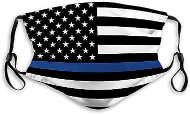 Xunulyn Anti Dust Half Face Mouth Shield for Men Women Police Law Enforcement American Flag Face Shield