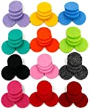 Hinleise - Cuscinetti di ricambio per collana diffusore di oli essenziali, 30 mm, per ciondolo in acciaio aromatico (60 pezzi)