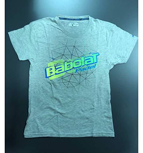 Babolat - Camiseta para hombre, color gris y verde, color gris, tamaño small