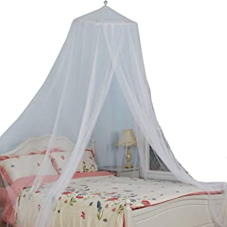 South To East King Size Bed Canopy, White Color Mosquito Net for Indoor/Outdoor, Camping or Bedroom Fit A King Size Bed, Made by Fire Retardant Fabric