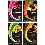 Al Manara Flavor Combo Pack of 4 (Each 50gm) Pink Mischief, Apple Kiwi