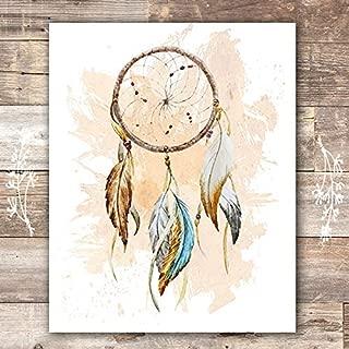 Dreamcatcher Wall Art Print - Unframed - 8x10 | Native American Decor