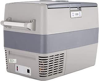 SMETA 50 Quarts 12V Portable Refrigerator with Freezer Compressor Compact Chest Freezer/Fridge for RV, Truck, Camper and Outdoors (0℉~50℉)