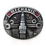 XGALA Fashion Mechaniker-Werkzeugkoffer, oval, mit Gürtelschnalle, rote Emaille