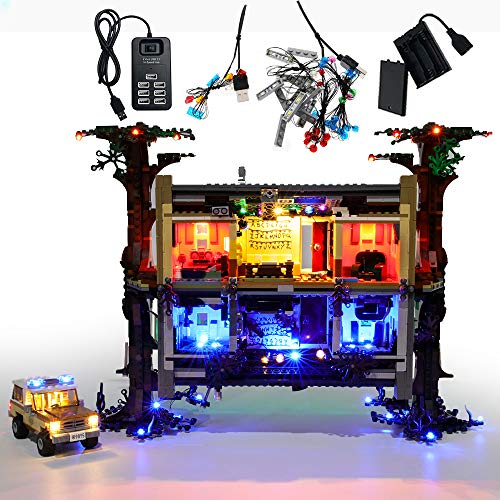 GEAMENT Set di Luci LED per Stranger Things The Upside Down (The Other Side) – Kit Di Illuminazione Compatibile Con LEGO 75810 (LEGO set Non Incluso)(Con Istruzioni)