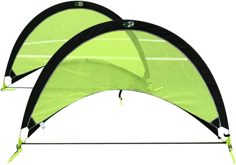 5 ☆ popular GreEco Set of 2 Pop Up Goals Soccer Pair Gate - Limited price Goal Foldable