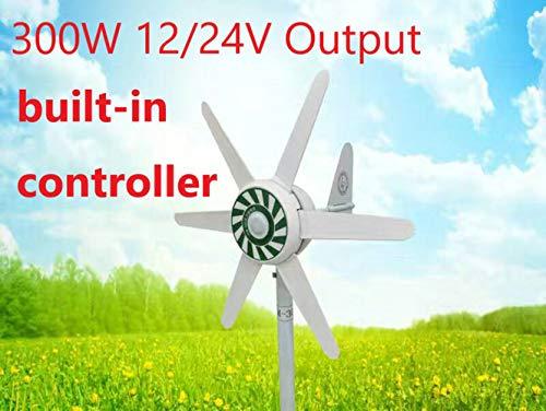 Raenhero Turbina de Viento 300W 15-20 años de Vida de 12V / 24V,24V