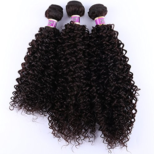 Angie Kinky Curly Hair Bundles Color 4 Curly Synthetic Hair Weave Extensions16 18 20 Inches Mixed Length