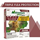 Adventure Plus Triple Flea Protection for Cats, 5-9 lbs, Cat Flea Treatment (4 Dose)