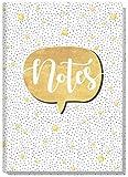 Notizbuch A5 liniert [Gold] von Trendstuff by Häfft | als Tagebuch, Bullet Journal, Ideenbuch, Schreibheft | stylish, robust, biegsam, abwischbares Cover