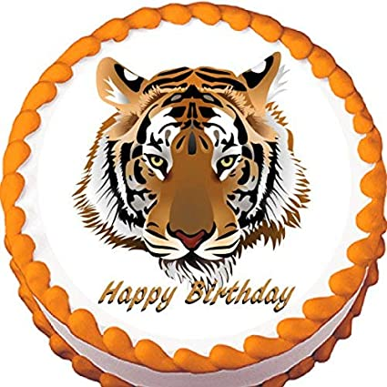 Amazon.com: Tiger Edible Cake Topper : Grocery & Gourmet Food