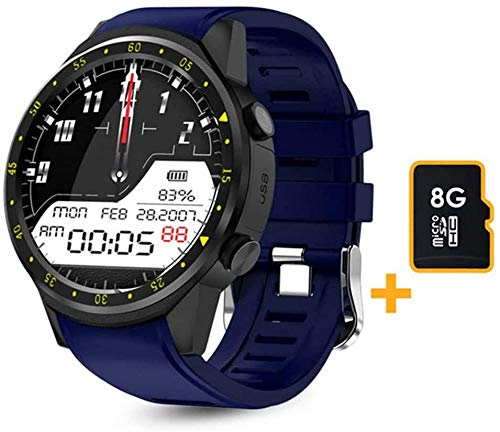 Reloj inteligente F1 para hombre con GPS, frecuencia cardíaca, rastreador de frecuencia cardíaca, modo multideporte, con tarjeta SIM, podómetro, adecuado para Android IOS C