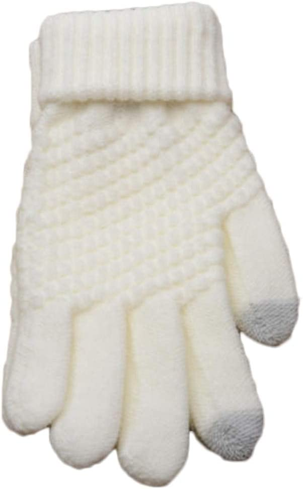 1 Pair Fashion Solid Gloves Women Girl Female Stretch Knit Gloves Mittens Hot Winter Warm Accessories - (Color: gy)