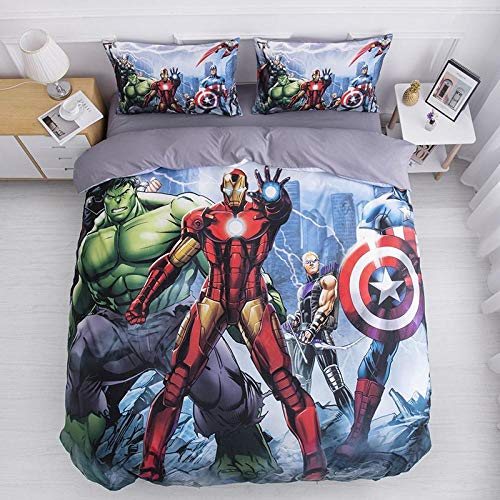 Fadaseo King Toddler Duvet Cover Set 240 X 220 Cm 3D Printing Movie Characters 3 Pieces Bedding Set. Easy Care And Super Soft Cotton Design.With 2 Pillowcases Hypoallergenic