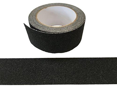 5Meter SCHWARZ Anti-Rutsch Klebeband Mehr Grip Rutschhemmendes Band Streifen 50mm für Innen & Aussen - mehr Sicherheit auf Leitern, Gerüste, Skateboards, glatten Oberflächen - 50mm breit