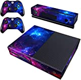 Decal Moments Xbox One Skin Set Vinyl Decal Skin Stickers Protective for Xbox One Console Kinect 2 Controllers-Purple Galaxy