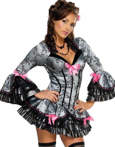 Mottoland French Kiss Damen Kostüm Sexy Kleid Karneval Saloon