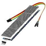 ✅ Leuchtstarkes LED-Display mit 64 Punkten; Auflösung 32 x 8 LEDs ✅ Maße (LxBxH): 32 x 32 x 7* mm (* 11 mm inkl. Pins) ✅ Rote LEDs mit 3 mm Durchmesser und jeweils 1 mm Zwischenraum ✅ Inkl. Kabel und zusätzlicher Pin-Leiste für leichte Erweiterbarkei...
