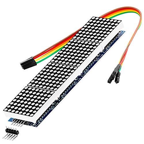 AZDelivery MAX7219 8x32 4 en 1 Dot Matriz Modulo de Pantalla LED Matrix para Arduino con ebook Gratis!