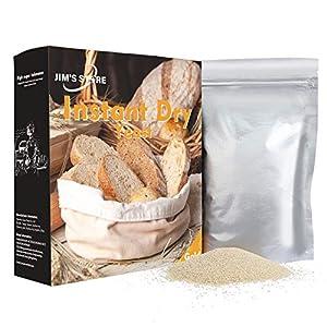 JIM'S STORE 300g Lieviti secchi attivi Lievito di birra Ingredienti da forno con elevata resistenza allo zucchero senza sale istantaneo altamente attivo senza zucchero per pane croissant pretzel