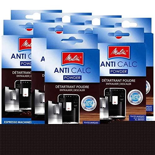 Melitta Anticalc Espresso Machines Entkalker Pulver 2x40g (9er Pack)