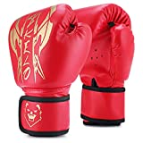 Kids Boxing Gloves, Sparring Gloves for Kids 3-15, Youth Training Gloves with Junior Punch PU Leather, Kids Boxing Gloves for Punching Bag, Kickboxing, Muay Thai, MMA