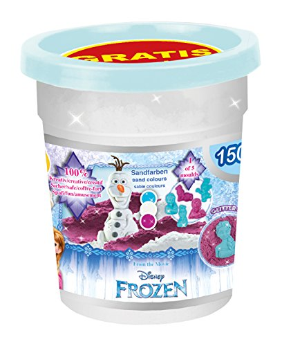 Craze 55190 Kinetischer Spielsand The icequeen Magic Sand Disney Frozen, funkelnd, 150g