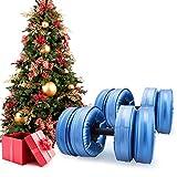 KKTECT 2 Piezas de Pesas llenas de Agua Pesas de Viaje portátiles 15-20kg, para Pesas Libres establecidas para tonificación Muscular, Desarrollo de Fuerza, pérdida de Peso (Azul)