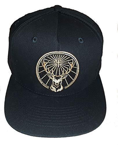 Jagermeister Official Embroidered Logo Black Hat - Adjustable Snapback Cap