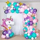 Decoración Cumpleaños niña Globos Unicornio Globos de Cumpleaños 1 Año Unicornio Fiesta Decoración para Mujer niña cumpleaños Fiesta Globos Comunion niña