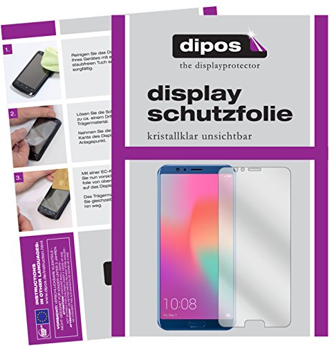 dipos I 6X Schutzfolie klar kompatibel mit Huawei Honor View 10 Folie Bildschirmschutzfolie