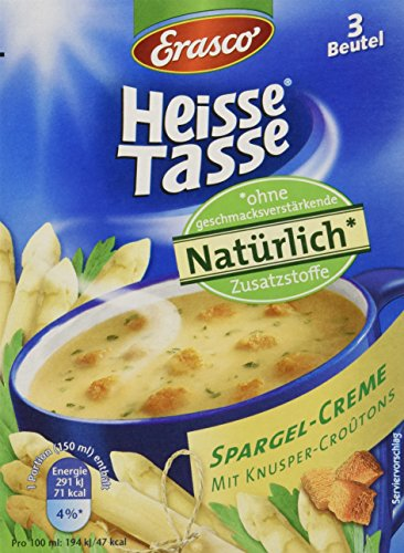 Heisse Tasse Spargel-Creme mit Croûtons Faltschachtel á 3 Beutel á 0,15 l, 12er Pack (12 x 450 ml)