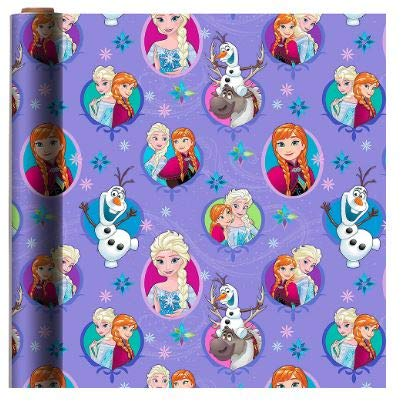 FROZEN 2 THEME GIFT WRAPPING PAPER 20 sq ft.(1 Roll)