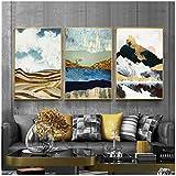 Nordische Sonnenaufgang Berglandschaft Ollie Malerei abstrakte Bilder piert Ölgemälde Wohnzimmer Wandkunst einzigartige Dekoration