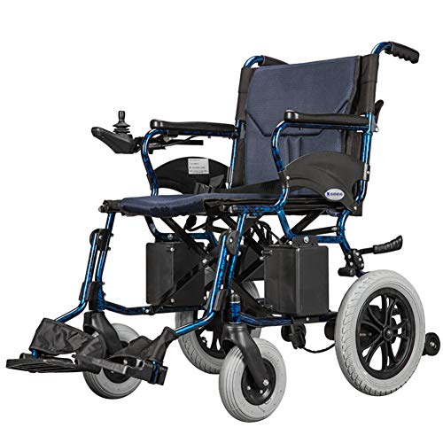 Silla De Ruedas Eléctrica Plegable Inteligente Ligera Aluminio Power Chair,silla Eléctrica Para Ancianos Discapacitados Adultos,coche Anciano Compacto Asiento 44cm,peso Máximo Soportado 100kg